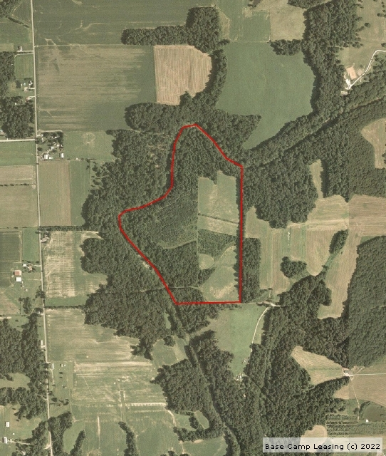 Map or photo for Decatur County, Indiana hunting lease property.