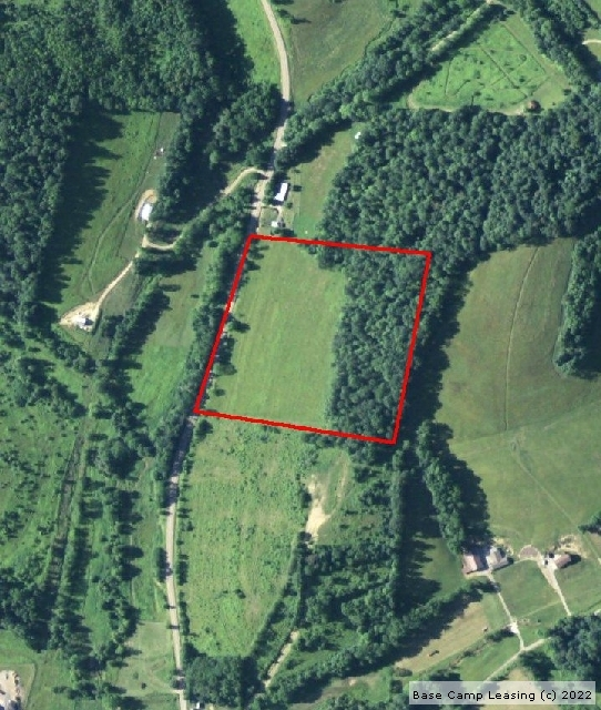 Map or photo for Coshocton County, Ohio hunting lease property.