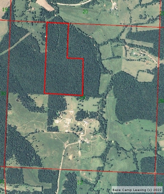 Map or photo for Morgan County, Missouri hunting lease property.