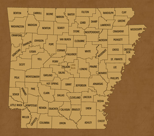 Arkansas Hunting Lease Map
