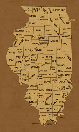 Illinois Hunting Lease Map