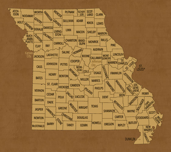 Missouri Hunting Lease Map