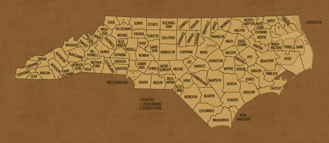 North Carolina Hunting Lease Map