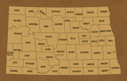 North Dakota Hunting Lease Map