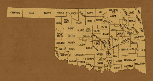 Oklahoma Hunting Lease Map