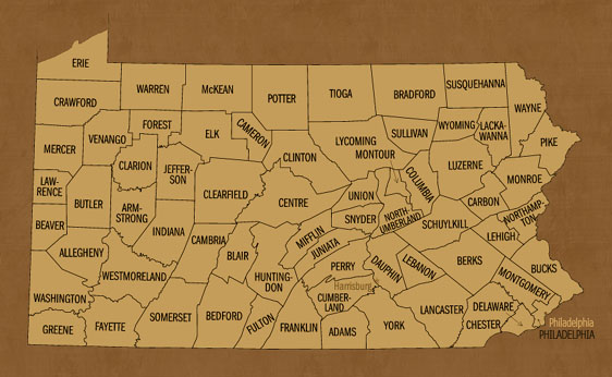 Pennsylvania Hunting Zones Map
