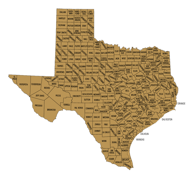 Texas Hunting Lease Map