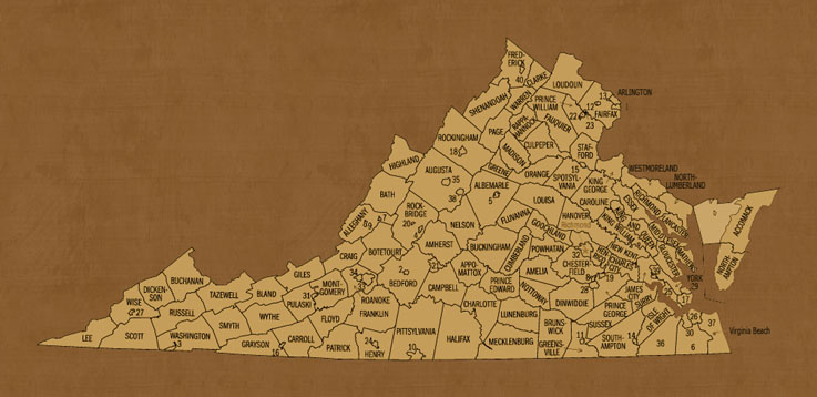 Virginia Hunting Lease Map