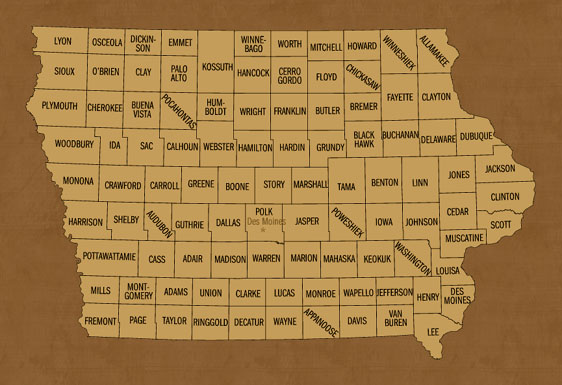 Iowa Hunting Lease Map