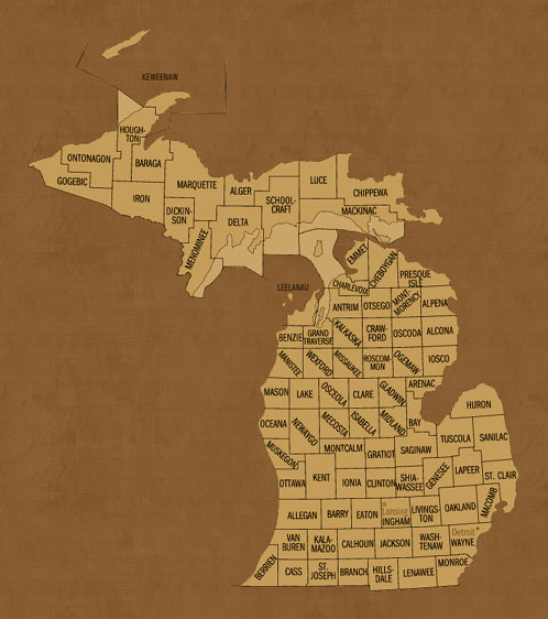 Michigan Hunting Lease Map