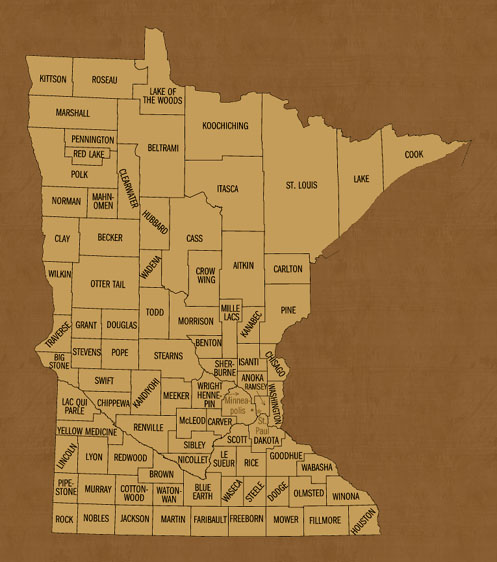Minnesota Hunting Lease Map