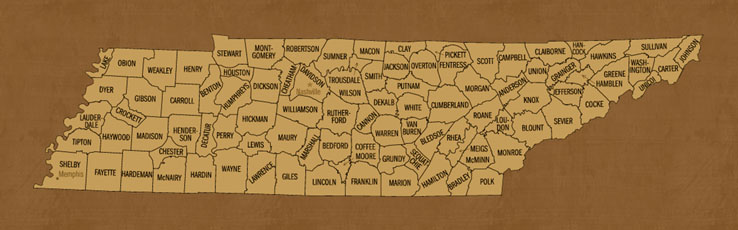 Tennessee Hunting Lease Map
